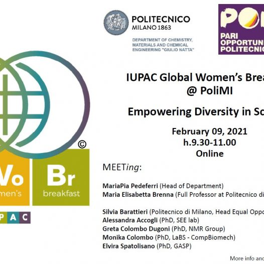 GASP invited at the IUPAC's Global Women's Breakfast